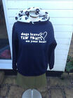 Dogs leave paw prints on your heart hoodies, sweatshirt  navy/paw print