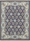 Traditional Persian Style Area Rug Oriental Floral Nain Design Carpet Large