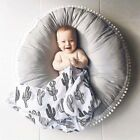 Large Soft Cotton Playing Mat Round Newborn Baby Infant Creeping Game Mat Carpet
