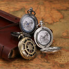 3 Colors Kronen&Söhne Men's Bronze Analog Quartz Pattern Pendant Pocket Watch
