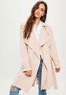 MISSGUIDED pink waterfall trench coat RRP £50 (M1/16)