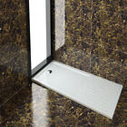 Rectangle Shower Tray With Drying Area Enclosure Glass Door Bathroom Free Waste