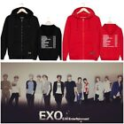 Kpop EXO Cardigan Sweater The Elyxion Concert Style Zipper Thick Cap Sweater