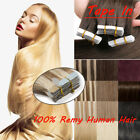 """Tape in Seamless 100% Remy Human Hair Extensions Skin Weft 16""""-22"""" MY Woman"""