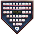39 BASEBALL WORLD SERIES CHAMPIONS HOMEPLATE SHAPED DISPLAY CASE - FIRST RATE!