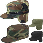 Camouflage Military Patrol Fatigue Cap With Ear Flaps