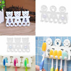 Toothbrush Holder Wall Mounted Suction Cup Smile/Bear 5 Position Bathroom Sets