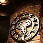Oversized 3D Decorative Gear Wall Clock Retro Art Gear Roman Numerals Design New