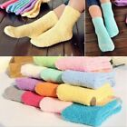 Women Girl Cozy Coral Fleece Fluffy Socks Winter Warm Sleep Bed Floor Home Socks