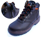Men PRO6 Safety Work Boots Steel Toe Cap Zippers feature (Made in Korea)