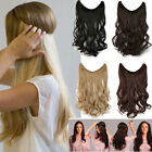 100% Natural Secrect Wire Headband No Clip in Hair Extensions Straight Wavy YL62