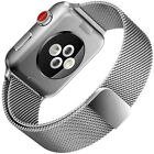For Apple watch Magnetic Clasp Milanese Loop Mesh Smooth Stainless Steel band