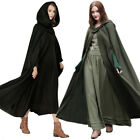 Winter Womens Casual loose Hooded Wool Blend Long Cape Cl...