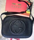 100% Authentic GUCCI Black Pebbled Leather Small Soho Disco Bag NWT