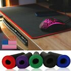 800x300mm Extended Gaming Mouse Mat Pad XXL Large Black Mousepad Stitched Edges