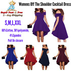 Cocktail Skater Dress High Low Prom Off The Shoulder Dress Small Medium Large