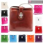 NEW SHINY GENUINE LEATHER WOMENS VERA PELLE CROSSBODY BAG HANDBAG