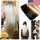 DOUBLE DRAWN Tape in hair extensions Real Human Hair PU Brazilian US STOCK