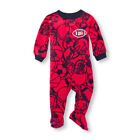 childrens footed pajamas - NWT The Childrens Place Boys 'Dad's MVP' Football Footed Fleece Sleeper Pajamas