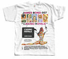CASINO ROYALE James Bond Movie 1967r. T-Shirt (White) All Sizes S-5XL $23.55 CAD