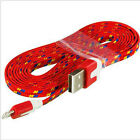 Xmas For iPhone/iPad  3/6FT 1/2/M Flat Noodle USB Sync Data Charger Cable Cord