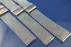 Dive Divers Stainless Steel Shark Mesh Watch Strap Bracelet 10 to 24mm Fit Rolex