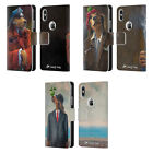 OFFICIAL LONELY DOG PORTRAITS LEATHER BOOK WALLET CASE FOR APPLE iPHONE PHONES
