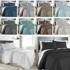Lightweight 3-Piece Embroidered Brickyard Solid Color Quilt Set  image
