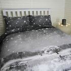 Christmas Magical Snowy Nature with Stars Bedding Set- Single, Double, King