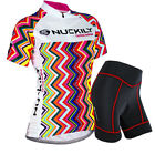 Womens Sportwear Team Cycling Jersey Sets Bike Bicycle Top Short Sleeve Clothing