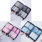 8Pcs Top Packing Cubes Large Travel Luggage Organizer Waterproof Compression Kit