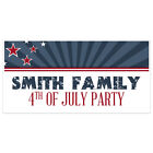 Patriotic Starburst Happy Independence Day Personalized Party Banner Decoration
