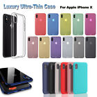 For iPhone X Case Ultra Slim Protector Shockproof Plating Clear Soft Cover J
