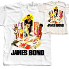 James Bond V5, movie poster, T SHIRT NATURAL WHITE all sizes S to 5XL $23.38 CAD on eBay