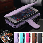 Multifunction Card Holder Wallet Zipper Cover Case For Apple iPhone 7 Plus 6 6S