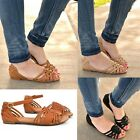 Womens Flat Sandals Gladiator Strappy Open Toe Flip Flop Sandal Shoes New