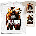 Django V1, movie poster, T SHIRT NATURAL KHAKI WHITE all sizes S to 5XL