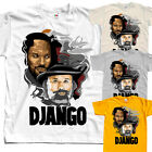 Django V5, movie poster, T SHIRT YELLOW NATURAL WHITE all sizes S to 5XL