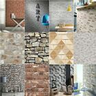 Luxury Rustic Brick Effect Wallpaper Morrocan Stone Slate Wall Realistic Feature