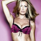 Ladies Padded Bra by CAPRICE Black and pink 32C / 32D