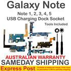 Samsung Galaxy Note 1 2 3 4 5 Charging Charge Dock Flex Cable Clip Socket USB +