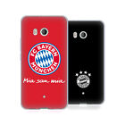 OFFICIAL FC BAYERN MUNICH 2017/18 LOGO SOFT GEL CASE FOR HTC PHONES 1