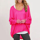 Women Plus Size Long Sleeve Pullover T-shirt Lady Loose Baggy Casual Top Jumper
