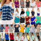 blue shirts for women - Women Cold Shoulder T Shirt Blouse Ladies Summer Casual Loose Tee Top Plus Size