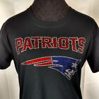 Women's New England Patriots Rhinestone Football V-neck T-Shirt Tee Bling Lady $29.99 USD on eBay