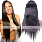 180%Silky Straight Human Hair Full Lace Wigs Glueless Lace Front Wig Black Women
