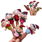 6PCS Christmas Finger Puppets Animals People Family Members Educational Toy Gift