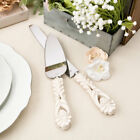 Внешний вид - Engraved Vintage Heart Wedding Knife Cake Server Serving Set Gift Rustic Set