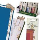 BRASS BOOKMARKS / PAGE MARKERS Alice in Wonderland, Cat Mouse, Moon Stars, Books