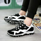 Spring Men's Breathable Board Shoes Student Sports Running Shoes Black Y555